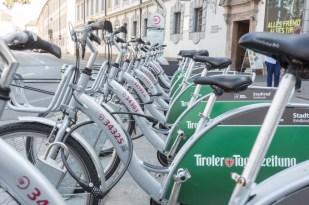 Bicicletas de Innsbruck.