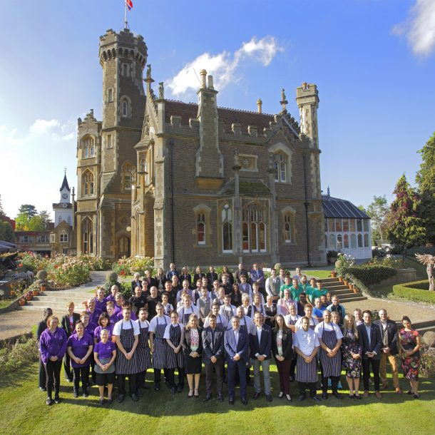 Equipo del hotel. Foto: The Oakley Court.