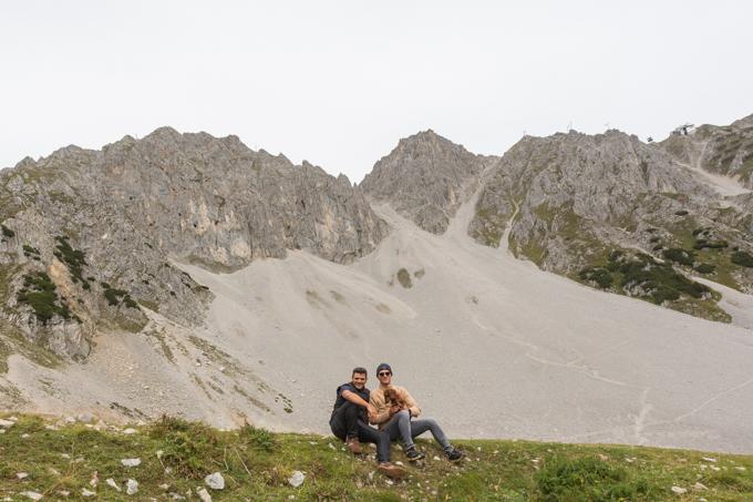 Eros y yo con David Suárez Fernández en Nordkette.