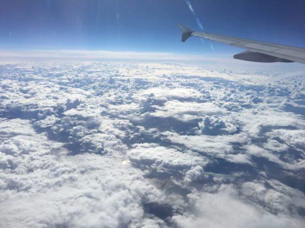 Nubes sobre Dinamarca y Suecia.