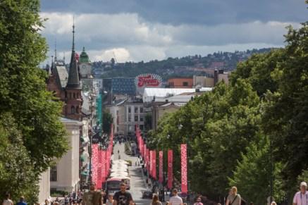 Vistas desde el Palacio Real de Oslo..