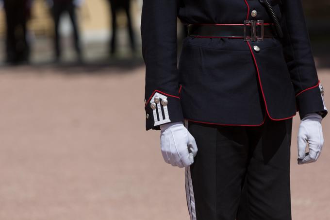 Guardia Palacio Real de Oslo.