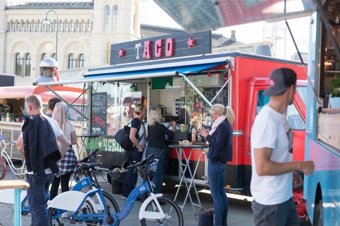 Food trucks Oslo.