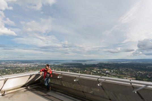 Panorámica de 360º en la jump tower de Holmenkollen.