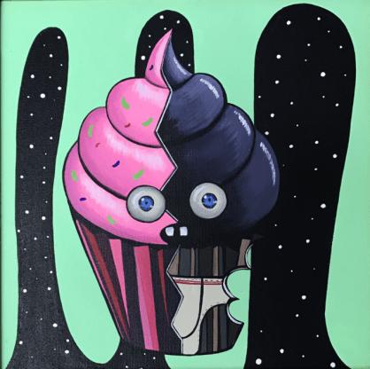 Obra en acrílico de Rebeca Khamlichi, una animal lover y artista increíble. Su trabajo es muy apreciado. DONATIVO: 250 €.