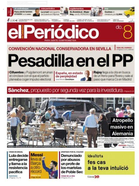 El Periódico de Cataluña 08/04/2018