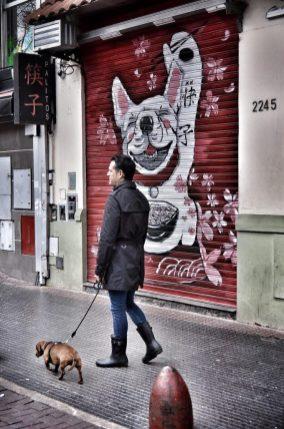 Grafiti de un perro.