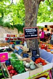 Mercado de productos bio de la región.