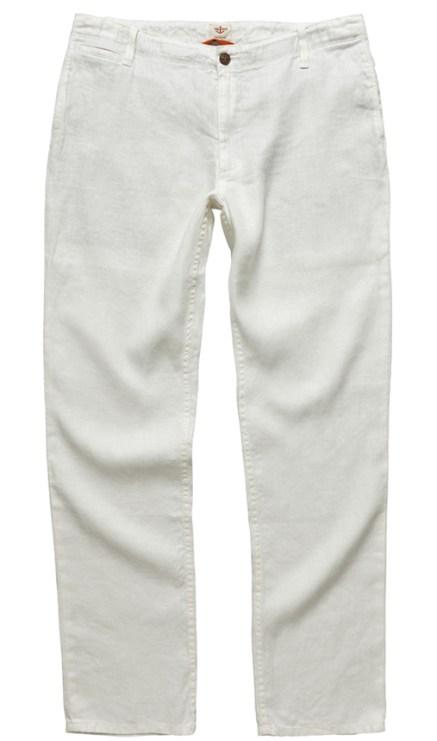 Pantalón slim de lino DOCKERS, 110 €.