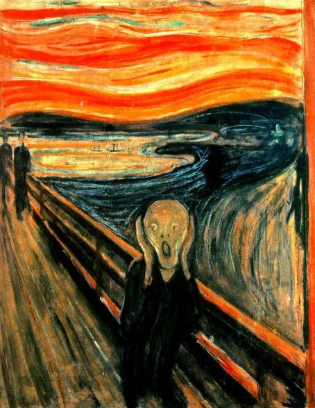 """""""El grito"""" de Edvard Munch en la Galería Nacional de Oslo."""