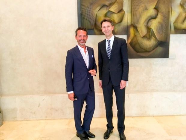 Con Peter Huber, Embajador de Austria en España.