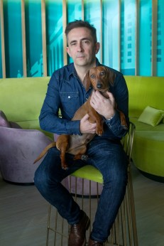 Eros con Dani Wilde en el INDIGO GRAN VÍA. Foto: David Suárez Fernández.