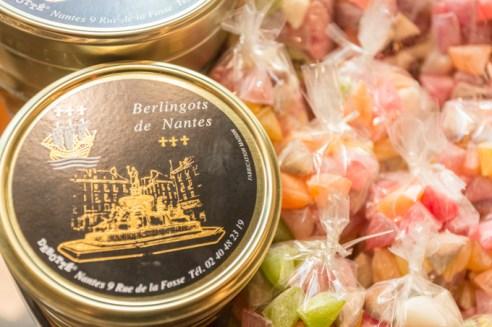 Berlingots de Nantes, los caramelos más famosos de Nantes, son duros como piedras.