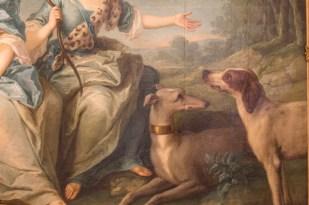 Perros a los pies de Diana.