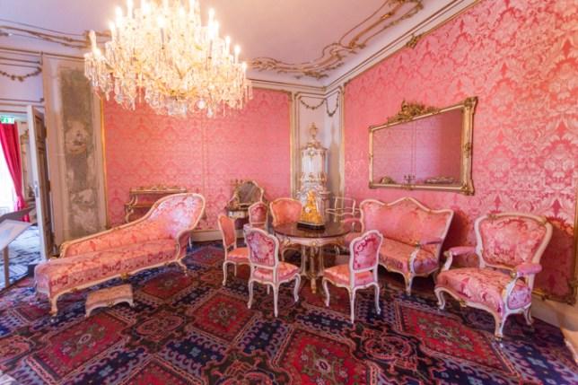 Una de las habitaciones de Sissi.