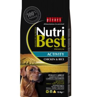 Picart Dog Nutribest Premium Activity Chicken & Rice 15Kg