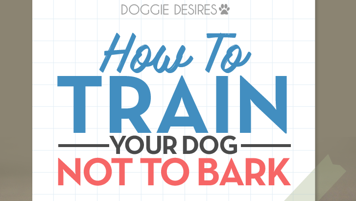 how to train your dog not to bark
