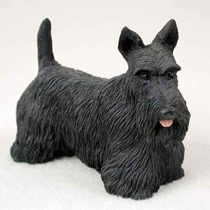 Scottish Terrier Figurine Hand Painted Collectible Statue