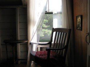 empty chair window