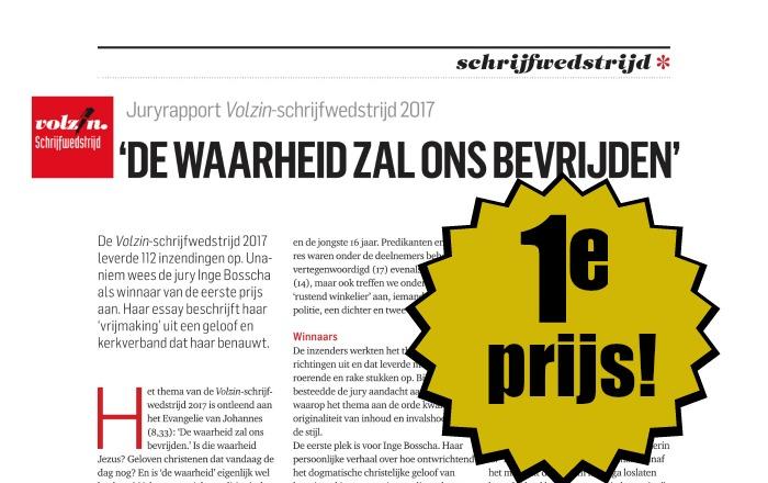 EERSTE PRIJS VOLZIN-SCHRIJFWEDSTRIJD 2017!