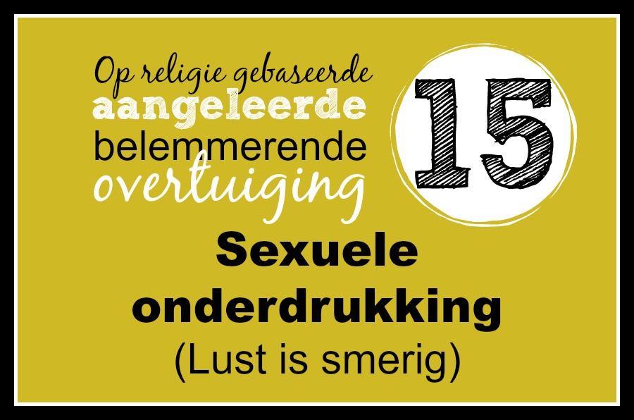 15. Seksuele onderdrukking