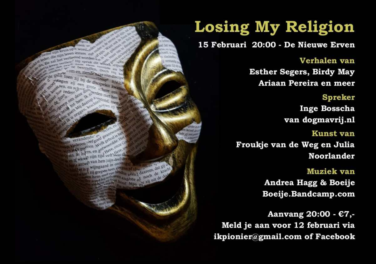 Losing My Religion avond in Amersfoort | 15-02-2019