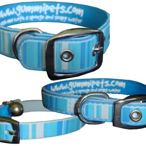 Gummi Collars - Blue Stripes
