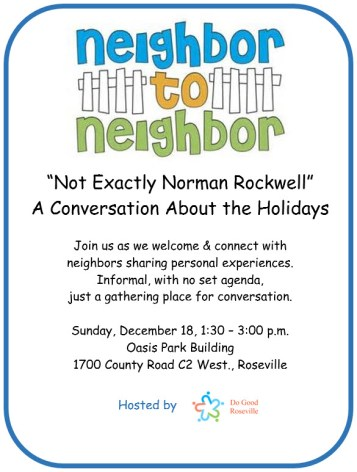 Neighbor to Neighbor Holidays Dec 2016