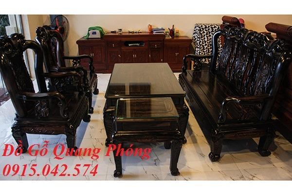Bộ bàn ghế Minh gỗ Mun 6 món