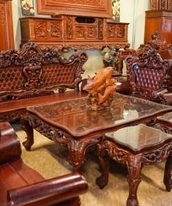 Bộ bàn ghế hoàng gia gỗ hương2
