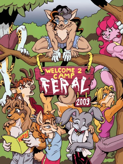 Feral! 2003 Survival Guide cover by Roxicat.