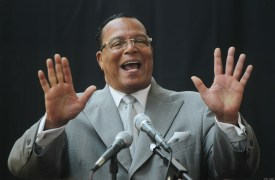 Minister Louis Farrakhan, leader of the Nation of Islam, at a press conference on June 15, 2011 in New York City. (Mario Tama/Getty Images)