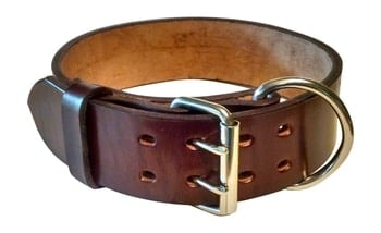 Pit Bull & Large Breeds Leather Dog Collar