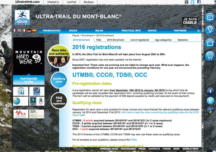 UTMB2016registration