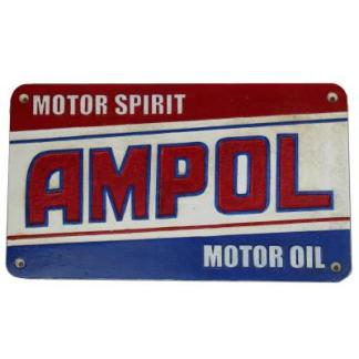 Cast Iron Ampol Motor Spirit Sign