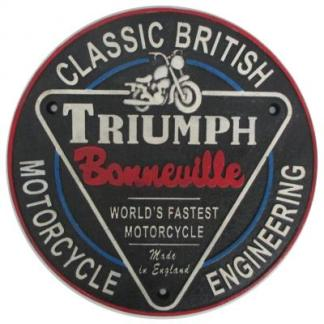 Cast Iron Triumph Sign