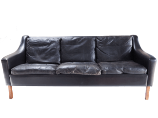 Danish 3 Seat Leather Sofa