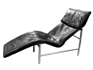 Danish Leather Chaise