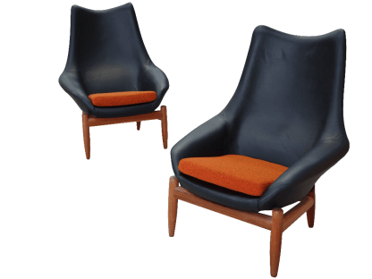 Danish Deluxe Leather Chairs