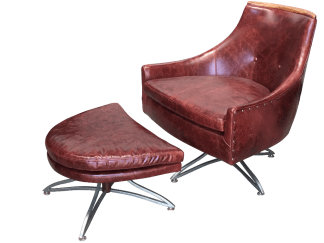 Kroehler Swivel Chair & Ottoman