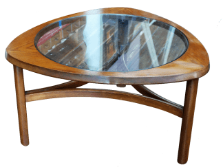 Teak Glass top Coffee Table