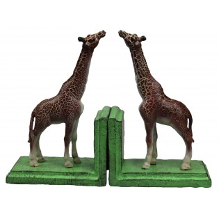 Cast Iron Giraffe Bookends