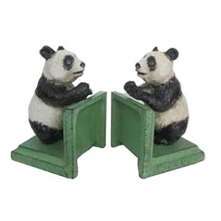 Cast Iron Panda Bookends