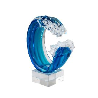 Art Glass Wave Sculpture
