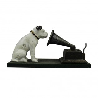 Cast Iron Nipper Dogs with Gramophone