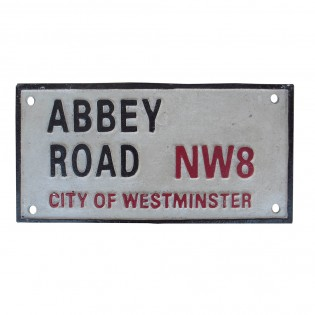 Cast Iron Abbey Road Sign