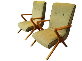 French Oak Armchairs
