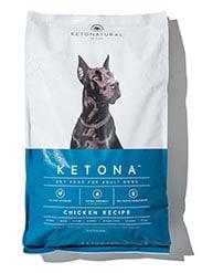 Bag of Ketonatural dog food, Ketona