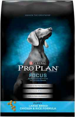 bag of purina pro plan focus for puppies