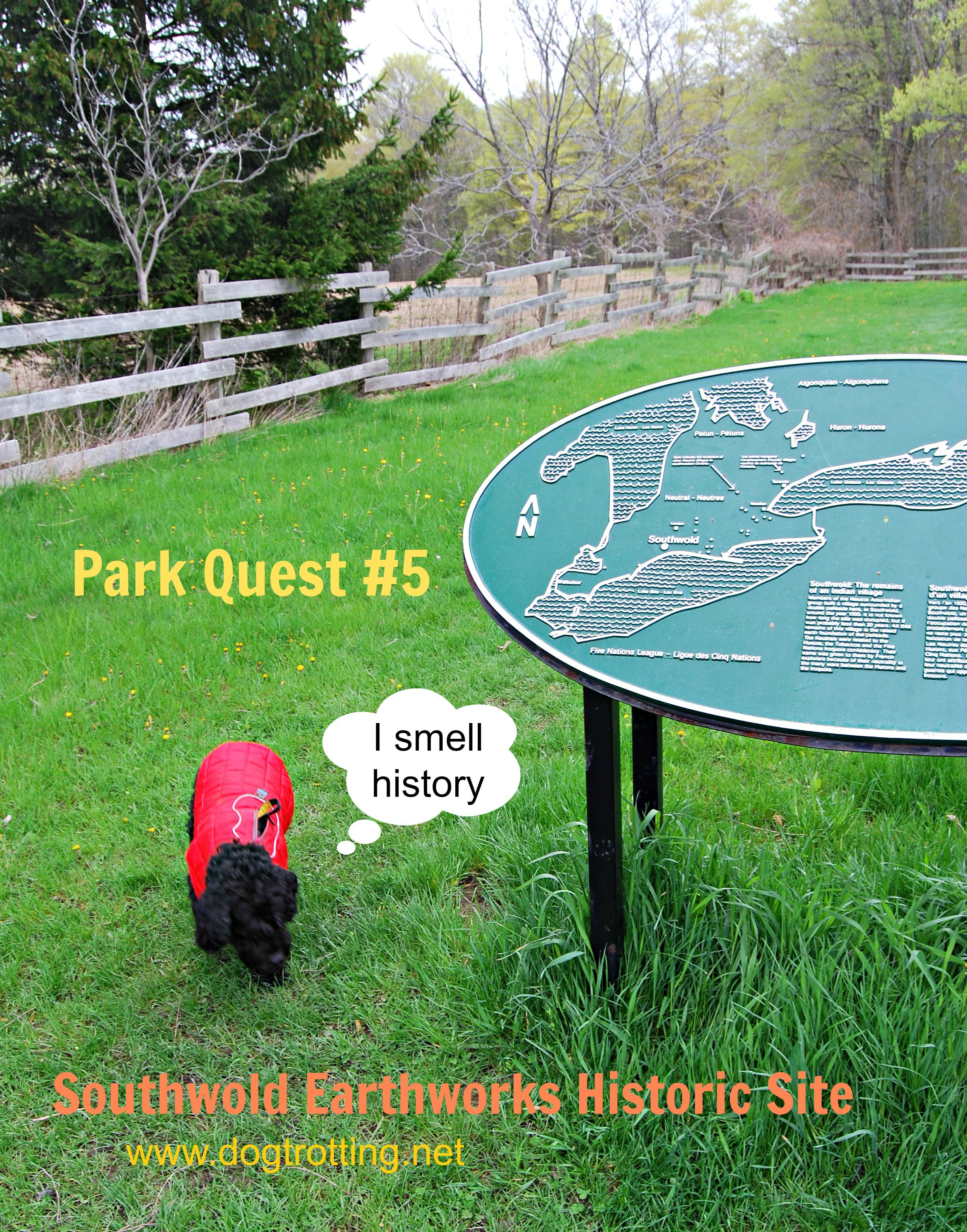 Park Quest #5: Southwold Earthworks Historic Site (and dog run?)
